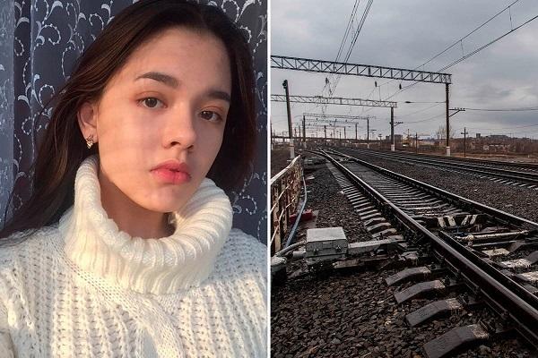 Девушка погибла, делая селфи на железной дороге